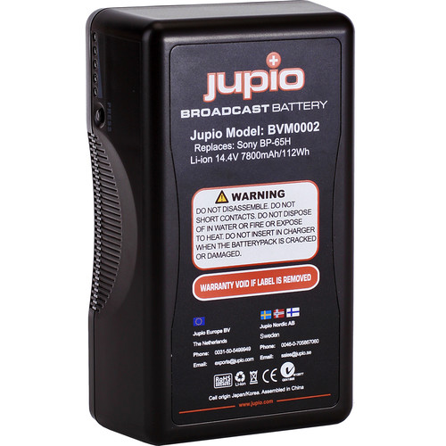 Jupio 7800mAh 14.4V Replacement Broadcast Battery for V-Mount Battery