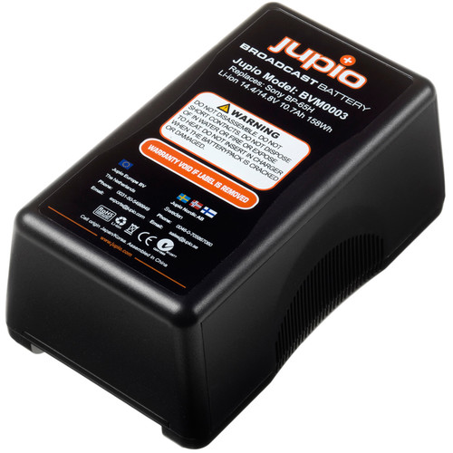 Jupio 10400mAh 14.4V Replacement Broadcast Battery for V-Mount Battery
