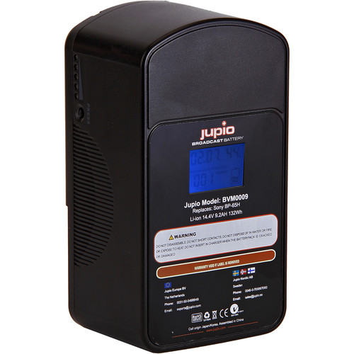 Jupio 9200mAh 12/14.4V Replacement Broadcast Battery for V-Mount Battery