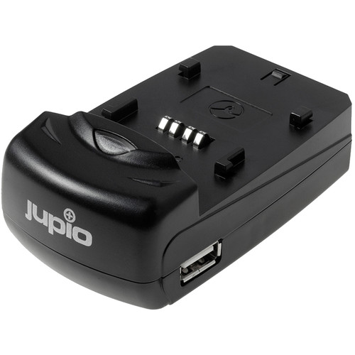 Jupio Single Charger for Camera/Camcorder Batteries & USB Devices