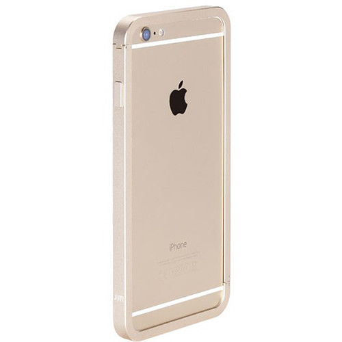 Just Mobile AluFrame Case with Screen Protector Kit for iPhone 6 Plus/6s Plus (Gold Case, White Protector)