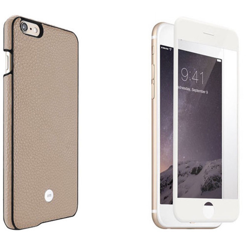Just Mobile Beige Quattro Back Case with White Screen Protector Kit for iPhone 6/6s