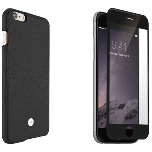 Just Mobile Black Quattro Back Case with Black Screen Protector Kit for iPhone 6 Plus/6s Plus