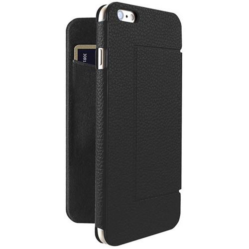 Just Mobile Black Quattro Folio Case with Black Screen Protector Kit for iPhone 6 Plus/6s Plus