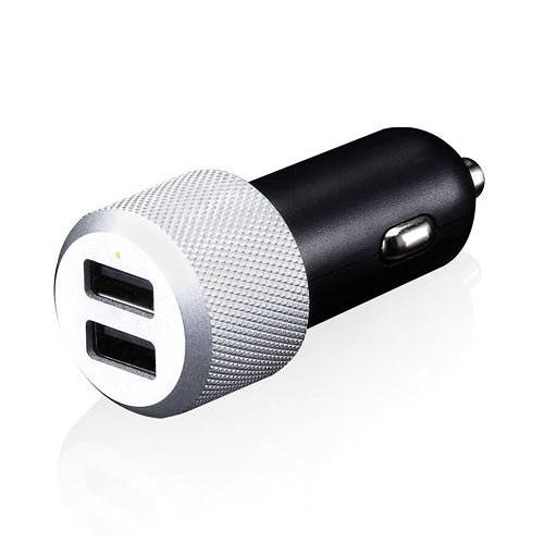 Just Mobile Highway Max Car Charger with Coiled Lightning Charge/Sync Cable