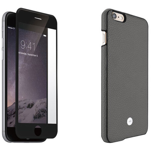Just Mobile Gray Quattro Back Case with Black Screen Protector Kit for iPhone 6 Plus/6s Plus