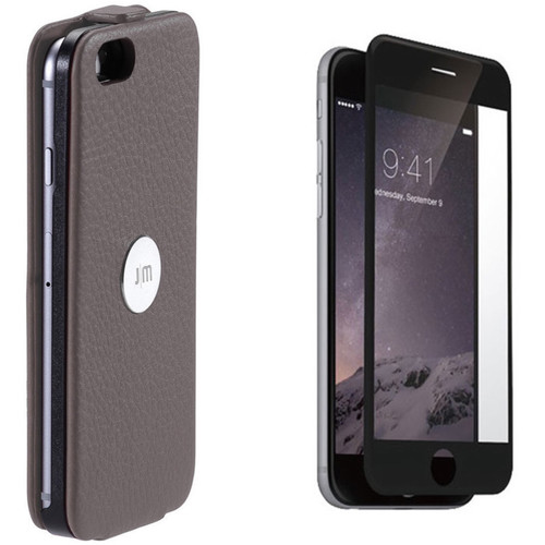Just Mobile Gray SpinCase with Black Screen Protector Kit for iPhone 6/6s