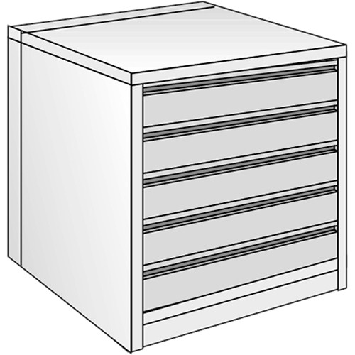 "Just Normlicht System Cabinet 3B 15/9 (27.6 x 39.4"")"