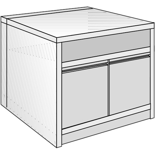 "Just Normlicht System Cabinet 3B 12/5 (27.6 x 39.4"")"