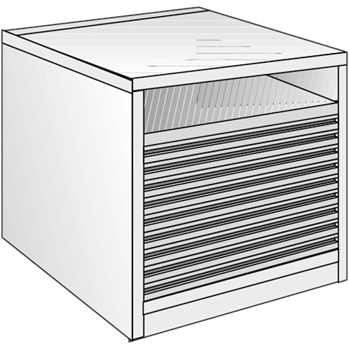 "Just Normlicht System Cabinet 3B 12/10 (27.6 x 39.4"")"