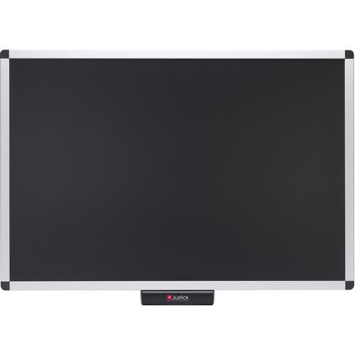 """Justick Premium Frame Bulletin Board (36 x 24"""", Black)"""