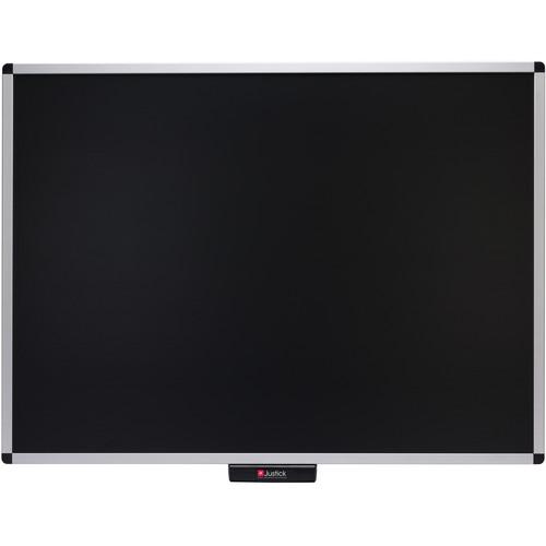"""Justick Premium Frame Bulletin Board (48 x 36"""", Black)"""