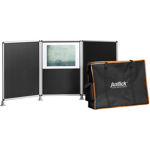 Justick 3-Panel Table Top Display with Carry Bag