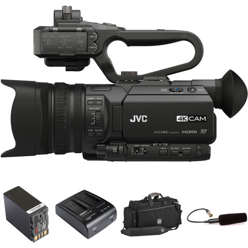 JVC 4KCAM with Mic, Spare Battery, and Soft Case Kit