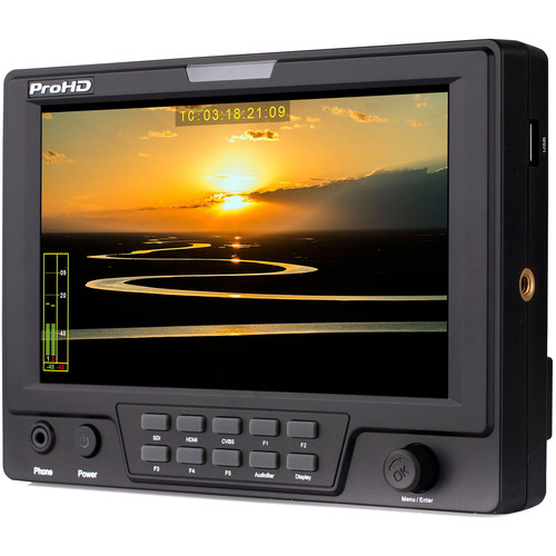 "JVC DT-X71HP ProHD 7"" 3G-SDI/HDMI On-Camera LCD Monitor"