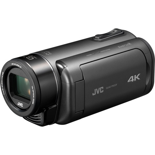 JVC Everio GZ-RY980HUS Quad Proof 4K Camcorder with 10x Optical Zoom (Gray)