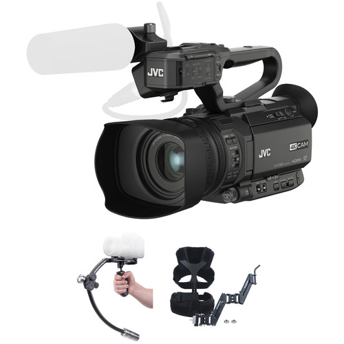 JVC GY-HM200SPU 4KCAM with Merlin Stabilizer and Arm & Vest Upgrade Kit