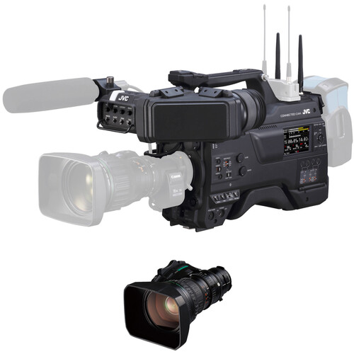 JVC Connected Cam 2/3 Professional Streaming Camcorder with Lens