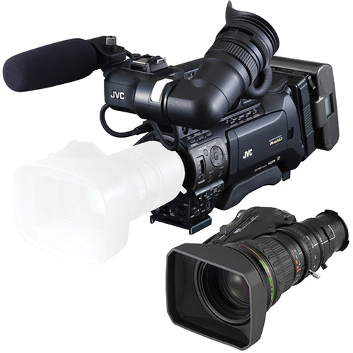 JVC GY-HM850 ProHD Shoulder Mount Camcorder with Fujinon HTS18X4.2BRM-M Lens