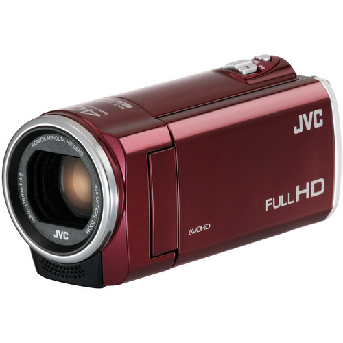 JVC GZ-E100 Full HD Everio Camcorder (Red)