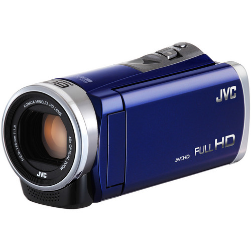 JVC GZ-E300 Full HD Everio Camcorder (Blue)