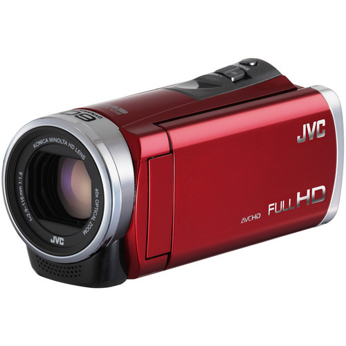 JVC GZ-E300 Full HD Everio Camcorder (Red)