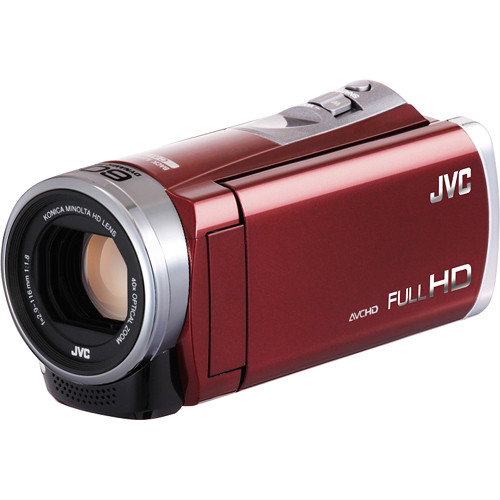 JVC Everio GZ-E305RE Full HD Camcorder (PAL, Red)