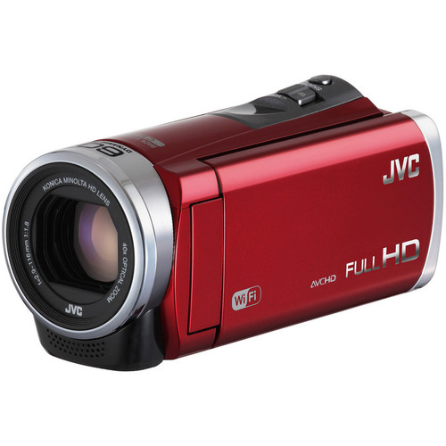 JVC GZ-EX310 Full HD Everio Camcorder (Red)