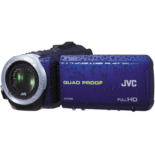 JVC GZ-R10 Quad-Proof HD Camcorder (Blue)