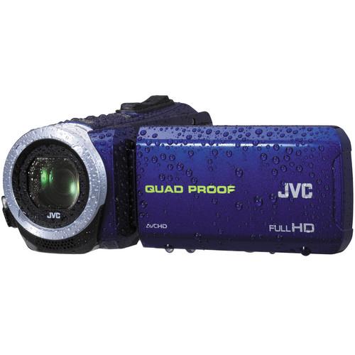 JVC GZ-R10 Quad-Proof HD Camcorder (Blue)