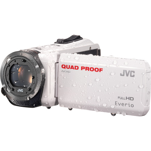 JVC GZ-R315WEU Quad-Proof HD Camcorder (PAL, White)