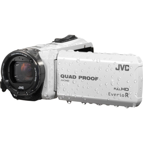 JVC GZ-R415WEK Quad Proof Camcorder (PAL, White)