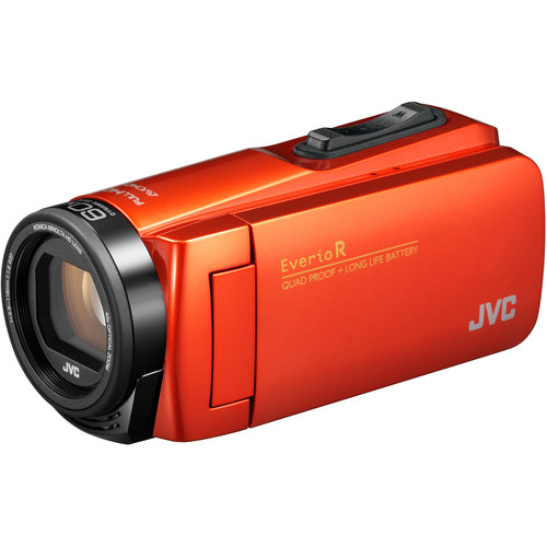 JVC Everio GZ-R460BUS Quad Proof HD Camcorder with 40x Optical Zoom (Orange)