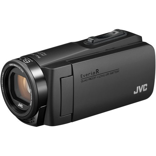 JVC Everio GZ-R560BUS Quad-Proof HD Camcorder with 40x Optical Zoom (Black)