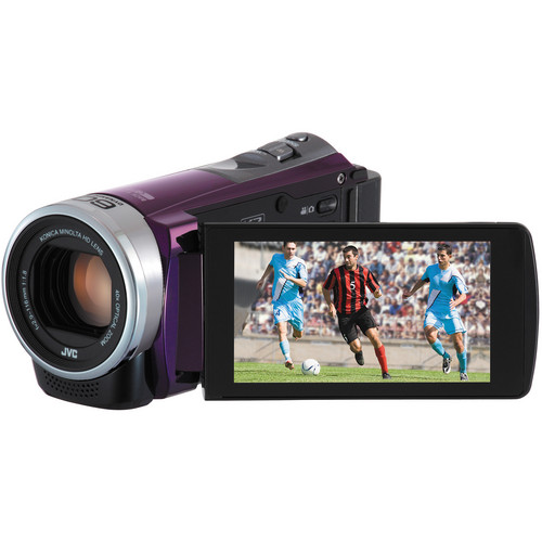 JVC GZ-E300 Full HD Everio Camcorder (Violet)
