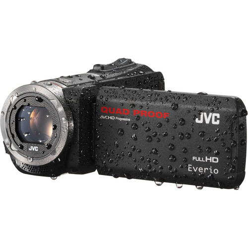 JVC GZ-R320BUS Quad-Proof HD Camcorder (Black)