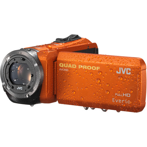 JVC GZ-R320DUS Quad-Proof HD Camcorder (Orange)