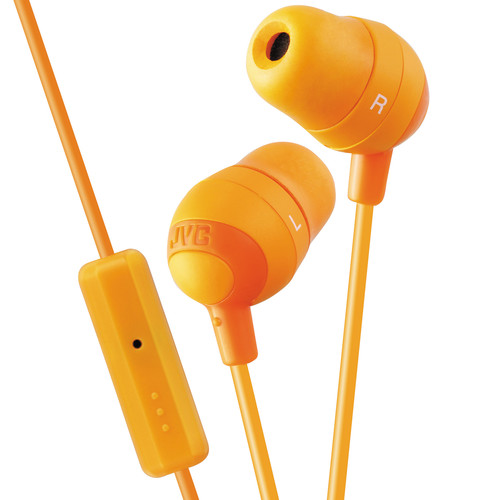 JVC HA-FR37 Marshmallow Inner-Ear Headphones (Orange)