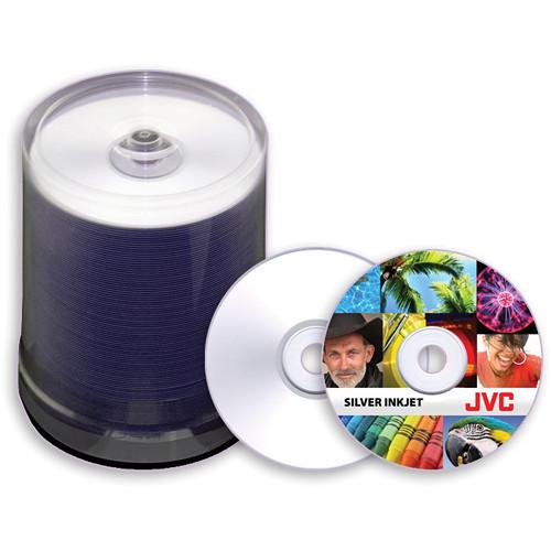 JVC Premium 8x Recordable Silver Inkjet Printable DVD-R (100-Pack)