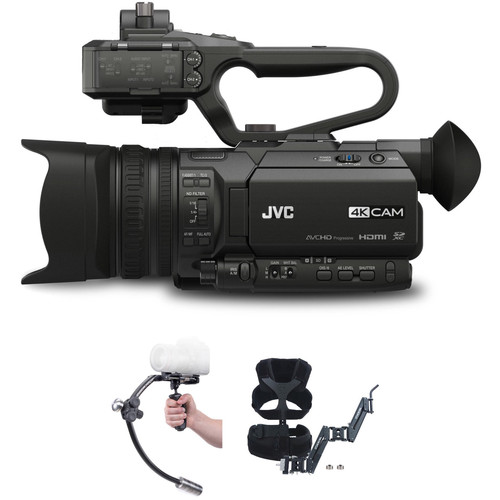 JVC JVC GY-HM170UA 4KCAM with Merlin Stabilizer and Arm & Vest Upgrade Kit