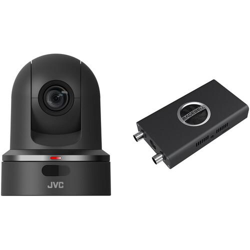 JVC PTZ Camera With NDI Converter Black
