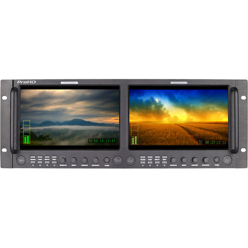 "JVC ProHD DT-X92HX2 Dual 9"" Rack 3G-SDI, HDMI, Composite Display Monitor"