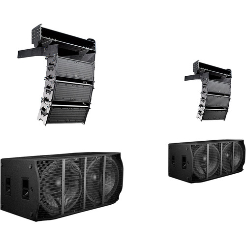 K-Array Small Powered Line-Array System with 6 KH2 Line-Array Speakers, 2 KS5 Subwoofers & 2 HCFLY2 Fly Bars