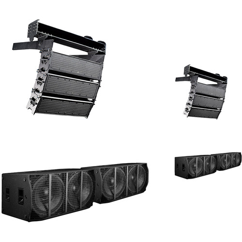 K-Array Medium Powered Line-Array System with 6 KH3 Line-Array Speakers, 4 KS5 Subwoofers & 2 HCFLY Fly Bars