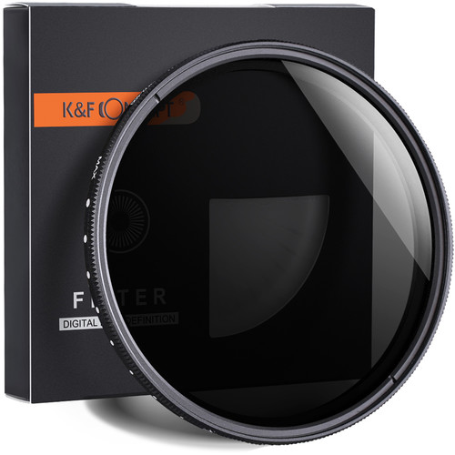 K&F Concept Variable Fader ND2-ND400 Filter (77mm)
