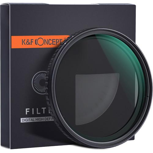 K&F Concept Nano-X Variable Fader NDX HD Green-Coated Waterproof Anti-Scratch Japan Optics Filter (62mm, ND2-32)