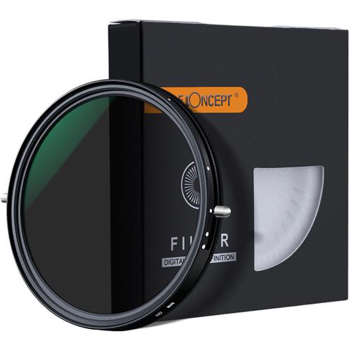 K&F Concept Nano-X ND2-32 Variable Fader & Circular Polarizer HD Green Coated Waterproof Anti-Scratch Japan Optics Filter (67mm)