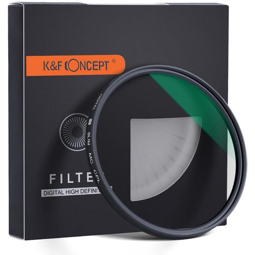 K&F Concept Slim Green Multi-Coated German Optics Schott B270 Circular Polarizer Filter (58mm)