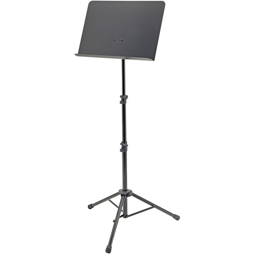 "K&M Height-Adjustable 25.6 to 59"" Orchestra Music Stand (Black)"