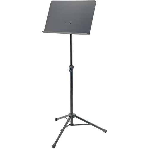 """K&M Height-Adjustable 29.1 to 50"""" Orchestra Music Stand (Black)"""